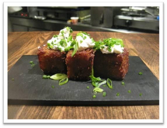 Croqueta de Quinoa y Patata/Potato and Quinoa Hashbrown